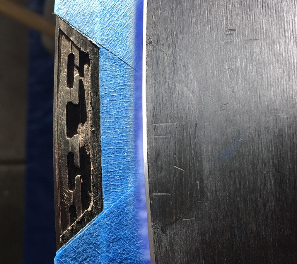 Metal Grip edge base repair for skis and snowboards